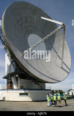 The Arthur satellite dish at BT Goonhilly Cornwall - Stock Image