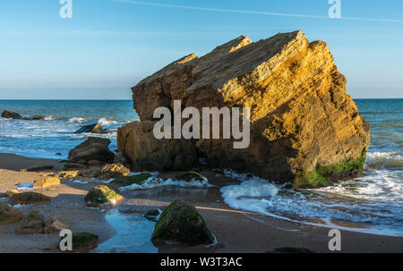 Rocks near the Black Sea coast near the village of Fontanka, Odessa region, Ukraine - Stock Image