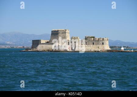 Bourtzi castle, Nauplion, Greece - Stock Image
