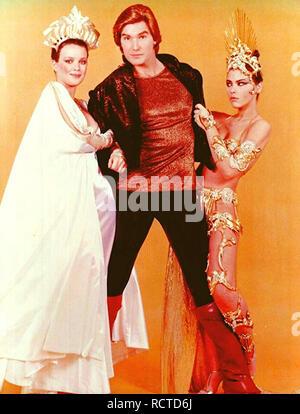FLASH GORDON 1980 Universal film with from left:  Melody Anderson, Sam J. Jones, Ornella Muti - Stock Image