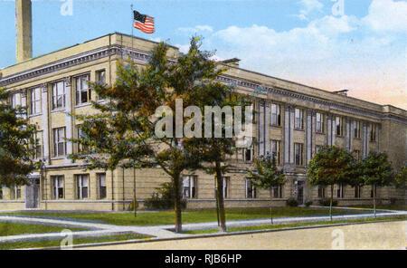 Ashtabula, Ohio, USA - Harbor High School - Stock Image