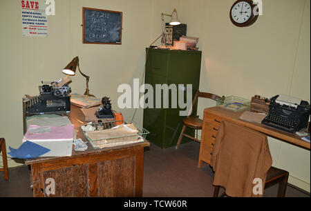 Alan Turing's Office at Bletchley Park, Milton Keynes, Buckinghamshire, UK - Stock Image
