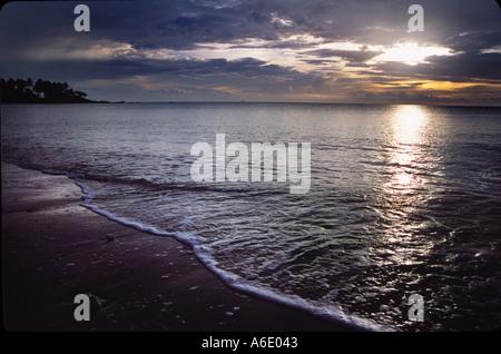 Sunset on Koh Lanta Thailand - Stock Image