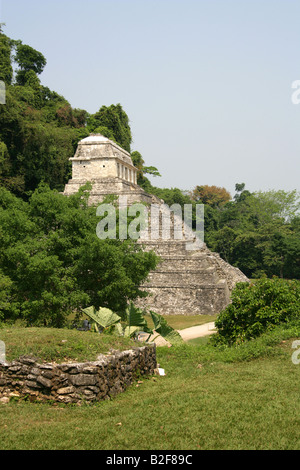 Temple of Inscriptions, Palenque Archealogical Site, Chiapas State, Mexico - Stock Image