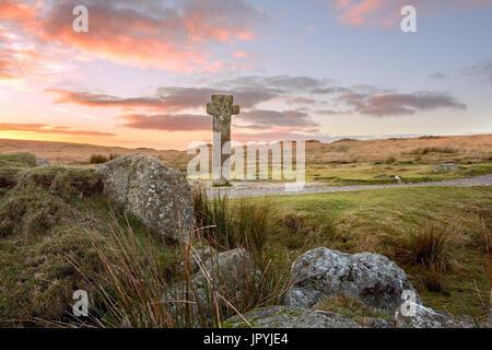 Nuns Cross Dartmoor National Park Devon Uk - Stock Image