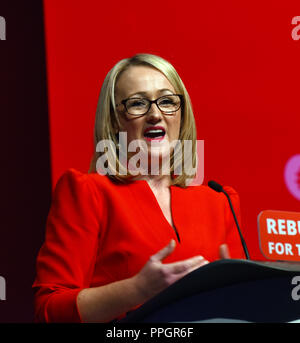 Liverpool, UK. 25th September 2018. Rebecca Long-Bailey, Shadow Secretary of State for Business, Energy and Industrial strategy Credit: Della Batchelor/Alamy Live News - Stock Image