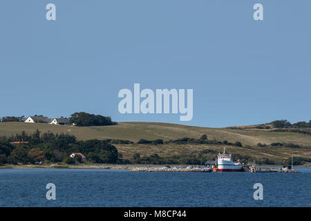 Nekselø harbour - Stock Image