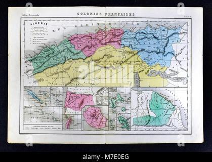 1858 Delamarche Map - - Stock Image