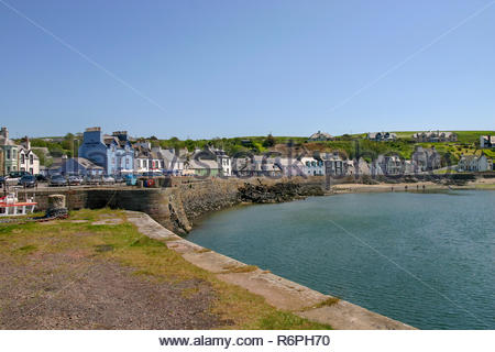 Portpatrick, Dumfries and Galloway, Scotland, UK - May 27,2005:View across the harbour entrance area in Portpatrick, Scotland. - Stock Image
