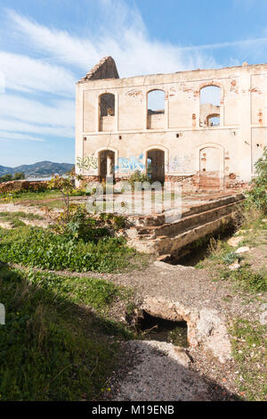 San Joaquin de Maro sugar factory operating intermittently between 1880 and 1930 in an area called Las Mercedes. - Stock Image
