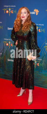 London, United Kingdom. 16 January 2019. Victoria Yeates arrives for the red carpet premiere of Cirque Du Soleil's 'Totem' held at The Royal Albert Hall. Credit: Peter Manning/Alamy Live News - Stock Image