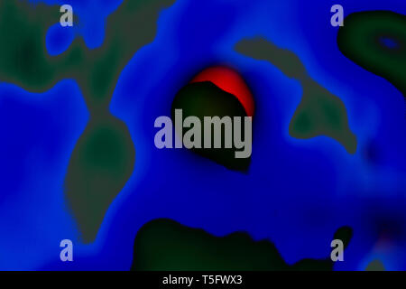 Modern Art Photography Abstract Concentration Creative Eclipse & Vampire India 1/2/2007. - Stock Image