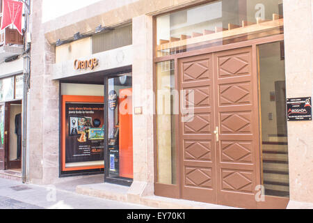 La Palma - Canary Islands - 21st January 2015: Orange España is the third largest mobile phone network that - Stock Image
