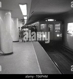 1950s, Tokyo, Japan, metro - Stock Image