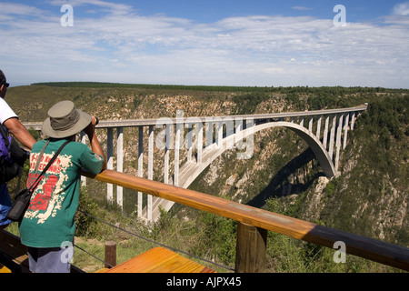 south africa garden route bridge bungee jumping  - Stock Image