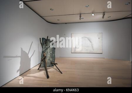Giuseppe Penone, Lo Spazio della Scultura, 2001, bronze sculpture, MART museum, Trento, Italy -  Arte Povera contemporary - Stock Image