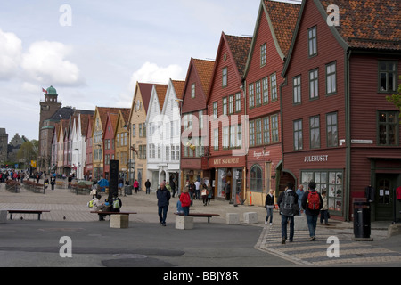 Hanseatic bryggen, or German warf in Bergen, Norway. - Stock Image
