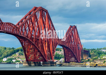 The Forth Rail bridge from South Queensferry, Edinburgh, Scotland, UK - Stock Image
