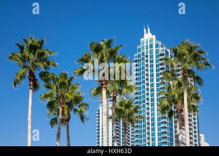 Luxury condominium, Tampa Bay, Florida, USA - Stock Image