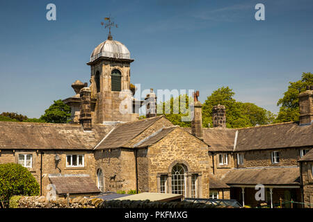 UK, Yorkshire, Wharfedale, Linton in Craven, Fountaine's Hospital from the rear, C18th Almshouse - Stock Image