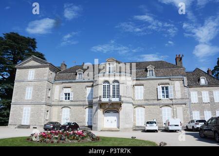 Meursault castle, Cote d Or, Bourgogne-France-Comté, France - Stock Image
