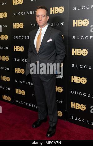 New York, NY - May 22, 2018: Matthew Macfadyen attends HBO drama Succession premiere at Time Warner Center Credit: lev radin/Alamy Live News - Stock Image