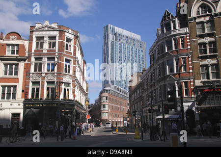 Nido student accomodation block view from Bishopsgate London - Stock Image