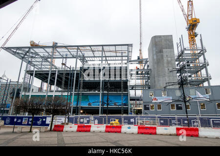 New BBC Wales building under construction in Central Square Cardiff Wales - Stock Image