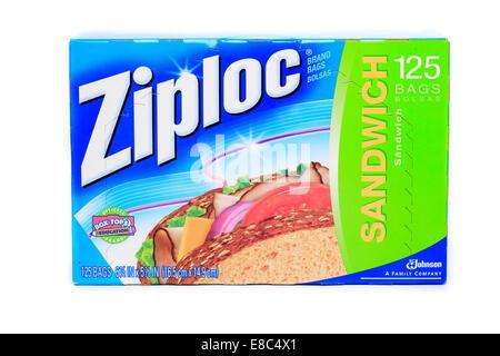 Ziploc sandwich bags - Stock Image
