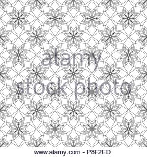 Simular texture with linear geometric ornaments - Stock Image