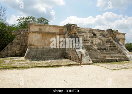 The Platform of Venus, Chichen Itza Archaeological Site, Chichen Itza, Yucatan, Mexico - Stock Image