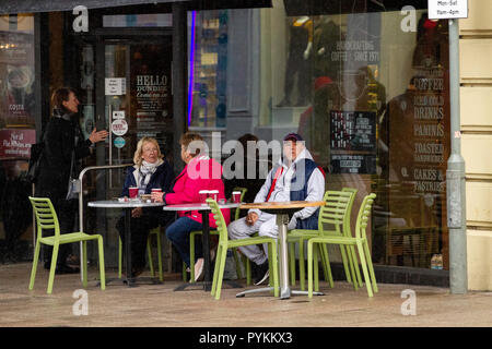 Dundee, Tayside, Scotland. October 29th 2018. UK weather. A cold October day with scattered showers heavy at times with temperatures reaching 6°C. in Dundee, UK. Credits: Dundee Photographics / Alamy Live News - Stock Image