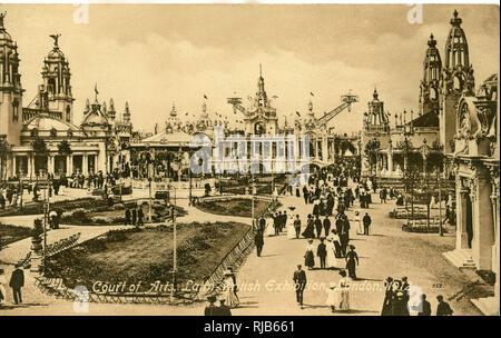 Court of Arts, Latin-British Exhibition, White City, West London. - Stock Image