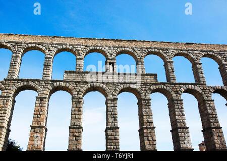 aqueduct of segovia - Stock Image