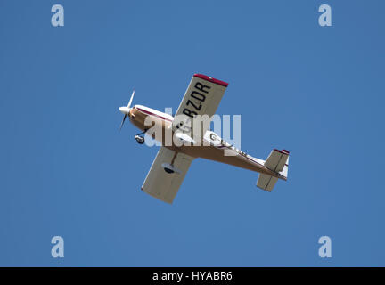 Tri-R Kis Kit built Aircraft leaving Inverness Dalcross Airport in the Scottish Highlands. - Stock Image