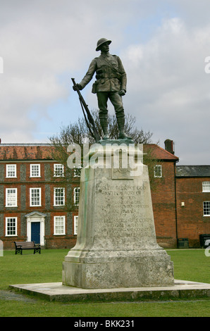 War Memorial to the Kings Royal Rifle Corps, Winchester Cathedral, Hampshire, UK - Stock Image