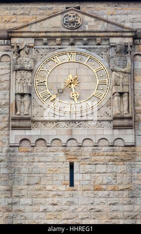 Poznan Imperial Castle Historical Building Clock - Stock Image