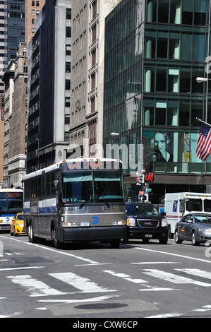Public bus in New York City, USA - Stock Image