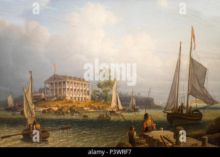 Rainsford's Island, Boston Harbor, Robert Salmon, 1840, Museum of Fine Arts, Boston, Mass, USA, North America - Stock Image