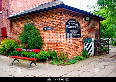 Ex Thorpe Thewles Railway Station, Wynyard Woodland Park, North East England - Stock Image
