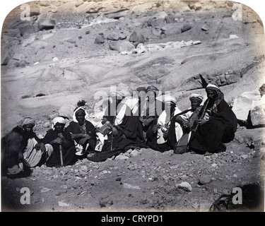 Group of Bedawin at the Convent of St Katherine, 1868, by Sgt. James McDonald - Stock Image
