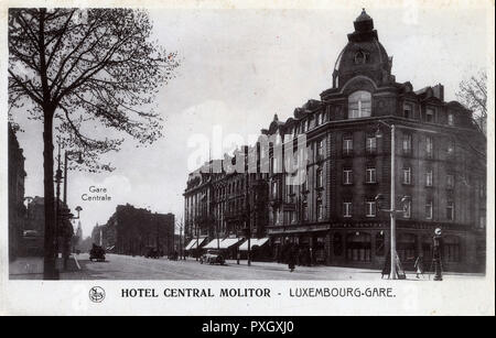 Hotel Central Molitor - Luxembourg     Date: 1937 - Stock Image