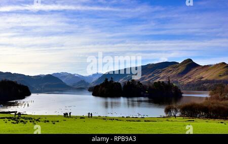 Derwent Water,Keswick,Cumbria,Lake District,England,UK - Stock Image