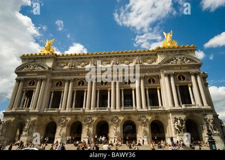 Facade of the Opera Garnier in Paris - Stock Image