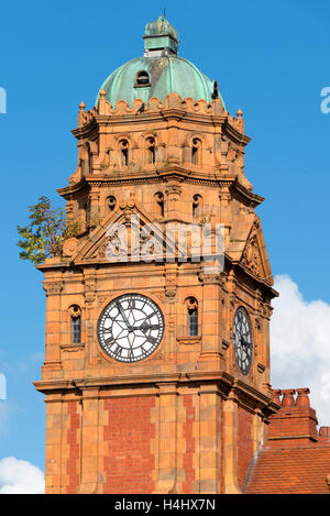 Newtown town clock tower, Cross buildings.  Powys Wales UK - Stock Image