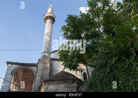 Mosque Gjirokasta Old town Albania - Stock Image