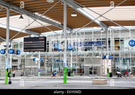 Winston-Salem, North Carolina. Carl Campbell transportation center, bus station. - Stock Image