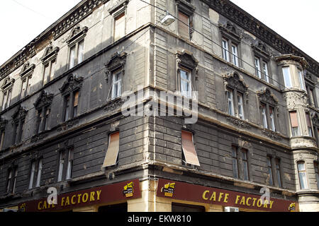 Budapest, Hungary. Building showing bullet holes oin the walls - Stock Image