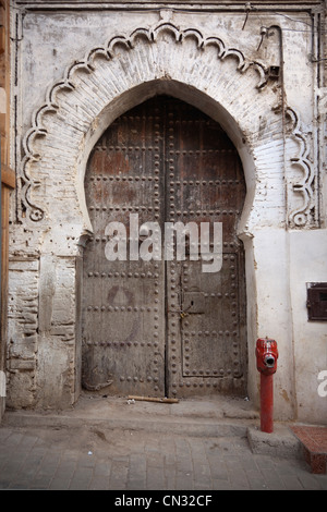 Doorway, Fes Medina, Fes, Morocco - Stock Image