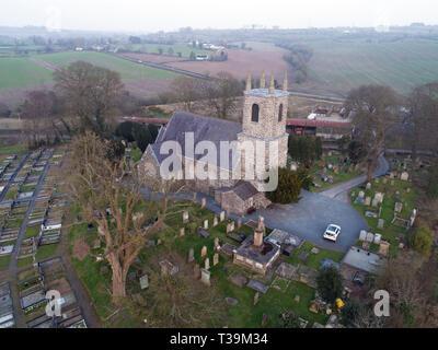 Ballylessen church, belfast. - Stock Image
